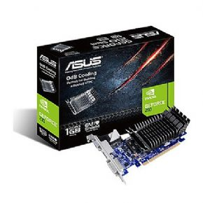 7394 - Placa de vídeo ASUS GeForce 210 1GB GDDR3 EMI Shield PCI-Express 2.0 - EN210-SILENT/DI/1GD3/V2