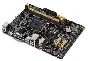 7519 - Placa-Mãe ASUS p/ AMD AM1 mATX AM1M-A/BR, 2xDDR3 HDMI/DVI/VGA, 5X Protection, USB3.0 Boost, SATA 6GB/s, Rede Gigabit, Bios UEFI