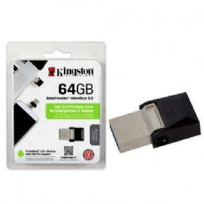 8878 - Pen Drive Kingston 64GB 3.0 DataTraveler Micro Duo e Micro USB