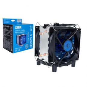 8632 - Cooler Gamer Dex Intel AMD DUAL C/ LED Azul DX-9100D