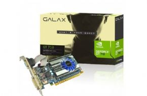 8713 - Placa de Vídeo Geforce Galax GT Mainstream GT710 1GB DDR3 64BITS 1600 MHZ DVI HDMI VGA