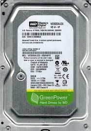 "8755 - HD Western Digital 3.5"" 500GB Sata 6GB/s 7200 RPM 34MB WD5000AUDX. A VISTA 199,00"