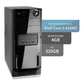8195 - COMPUTADOR INTEL DUAL CORE 4GB HD 320GB  3GREEN  DESKTOP