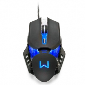 11134 - Mouse Gamer Warrior Keon, LED 4 Cores, 3200 DPI, Preto - MO267