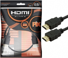 10915 - CABO HDMI 2.0 MXM 0,5M 3D 4K 018-2220