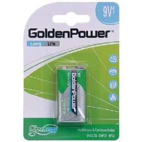 6877 - Bateria 9V GoldenPower 6F22