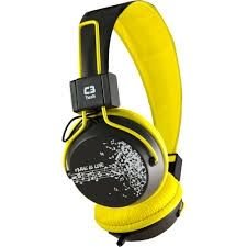 8865 - Headphone C3Tech Preto/Amarelo MI2358RY