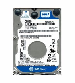 "9027 - HD Western Digital Sata 2,5"" p/ Notebook 500GB 5400RPM 16MB Cache 6.0Gb/s WD5000LPCX"