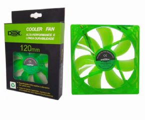 "9318 - Cooler Dex Fan 120X120X25MM 12V LED VERDE DX12L  - <b><font color=""#0db901""><font size=""4"">R$24,00 À VISTA</font></font></b>"