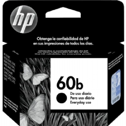 Cartucho de tinta HP 60b Preto 4,5ml