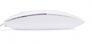 Mouse Hardline Slim USB 1000Dpi Branco AM 3212